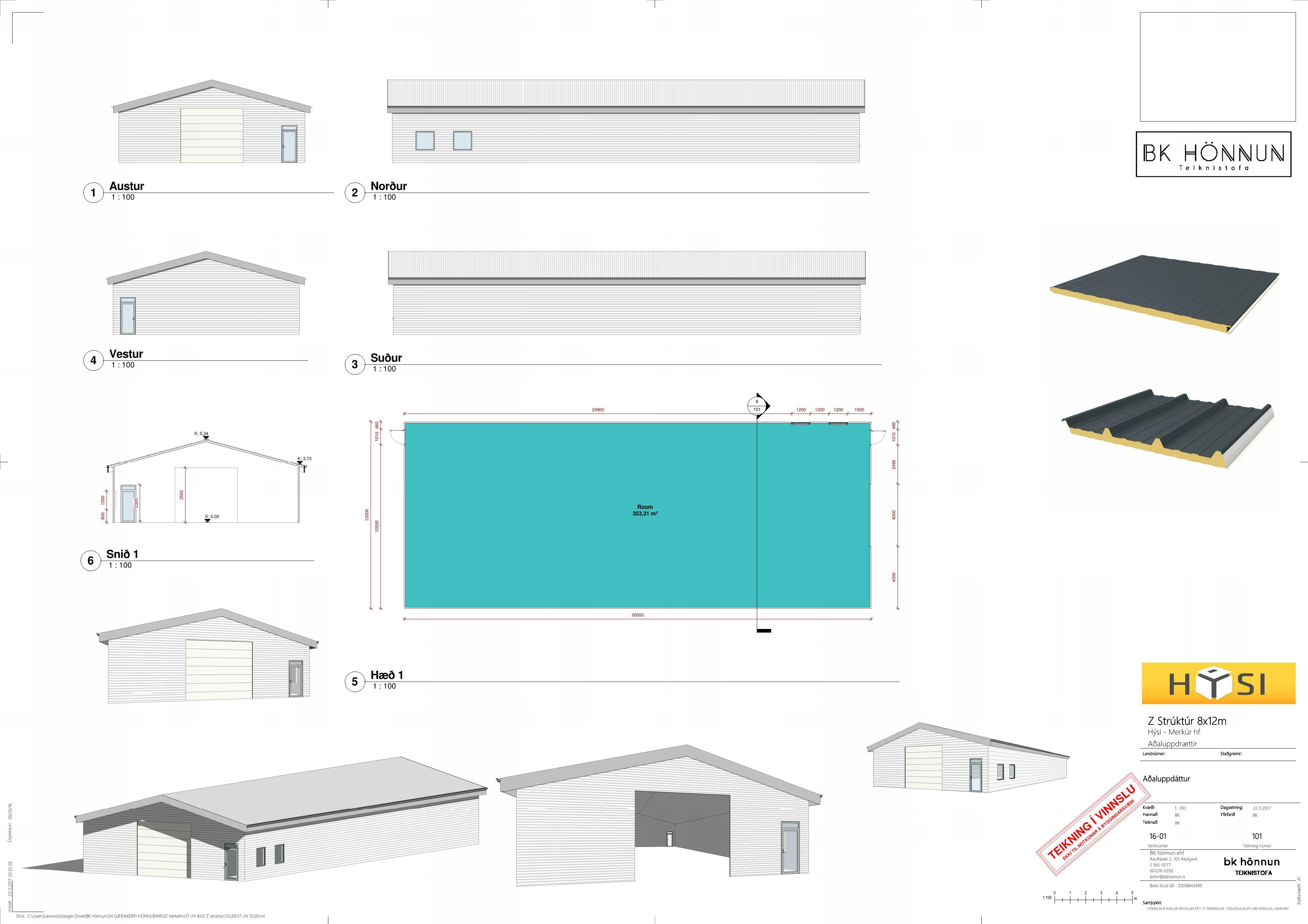 12×30 – Sheet – 101 – Aðaluppdáttur